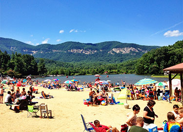 Lake-Lure-Activites-Beach-4th-July
