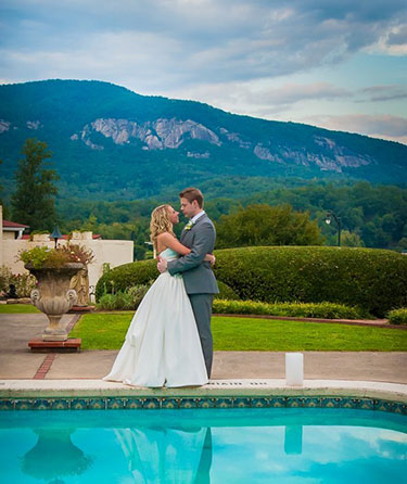 Lake Lure Poolside Wedding Venue